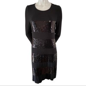 Tommy Bahama Black 3/4 Sleeve Jersey Dress Size M